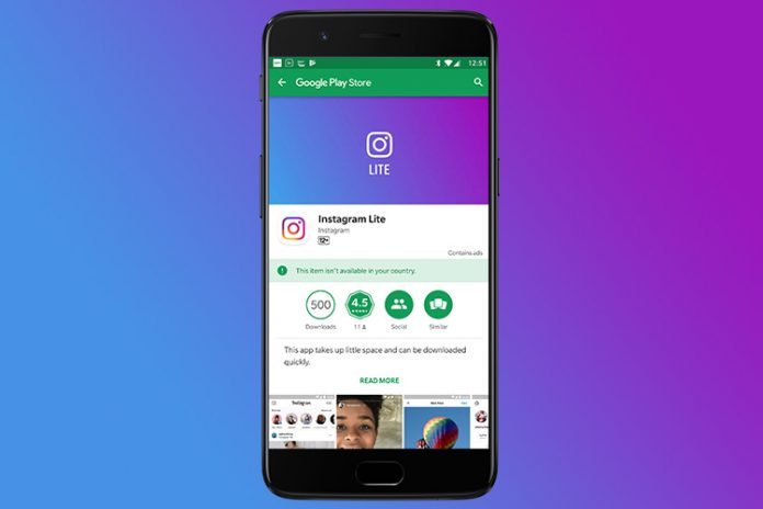 Instagram Lite desaparece de la Google Play Store